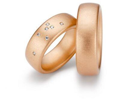 Niessing Roségold - Klassisch mattiert mit Diamanten