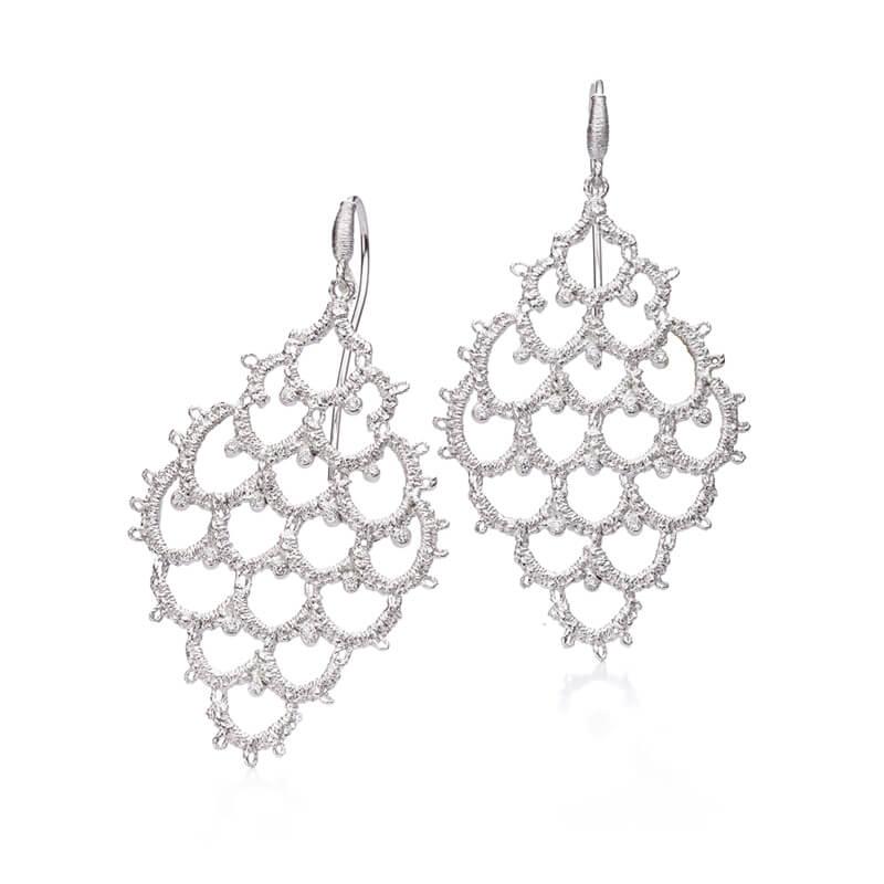 Brigitte Adolph Jewellery Design - 925 Silber Ohrringe in Spitze