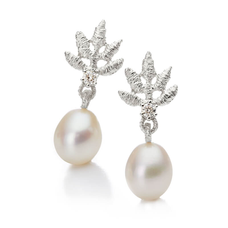 Brigitte Adolph Jewellery Design Ohrringe 925 Silber mit Perle