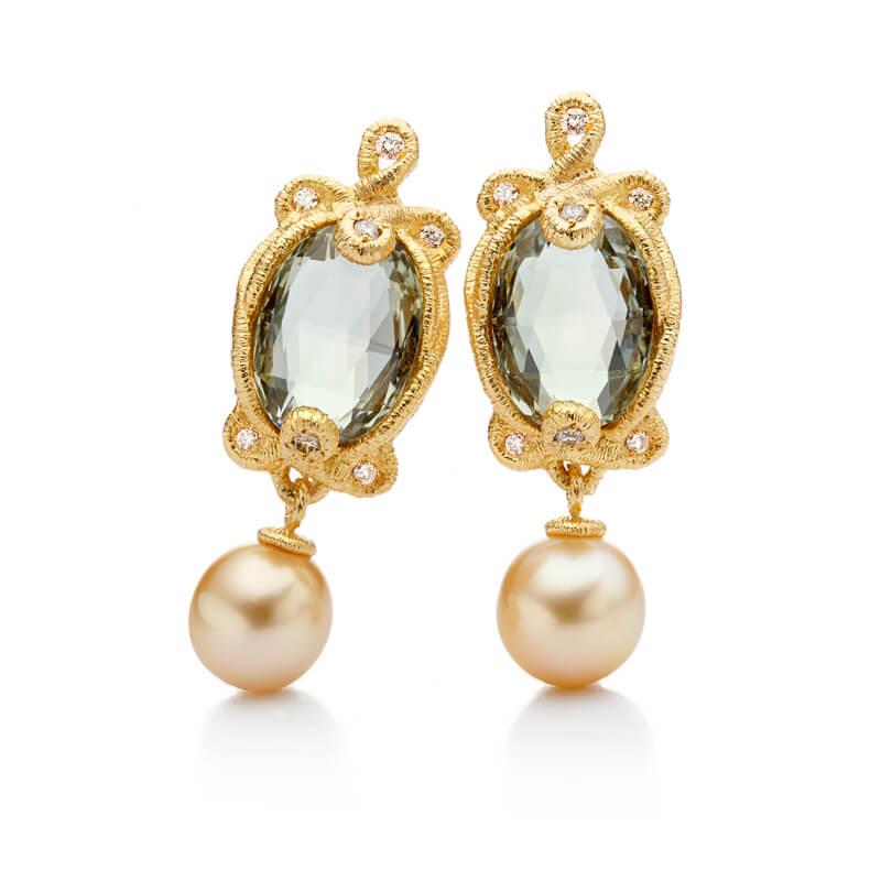 Brigitte Adolph Jewellery Design - Ohrringe mit Perlen und Diamanten