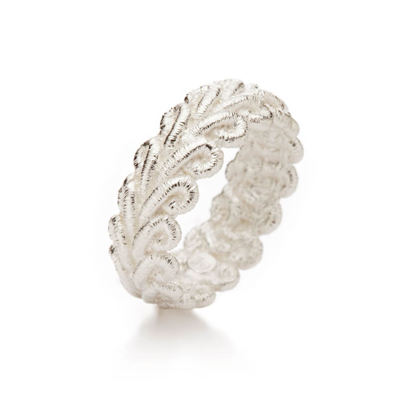 "Brigitte Adolph - Ring ""Bordure"" in Silber"