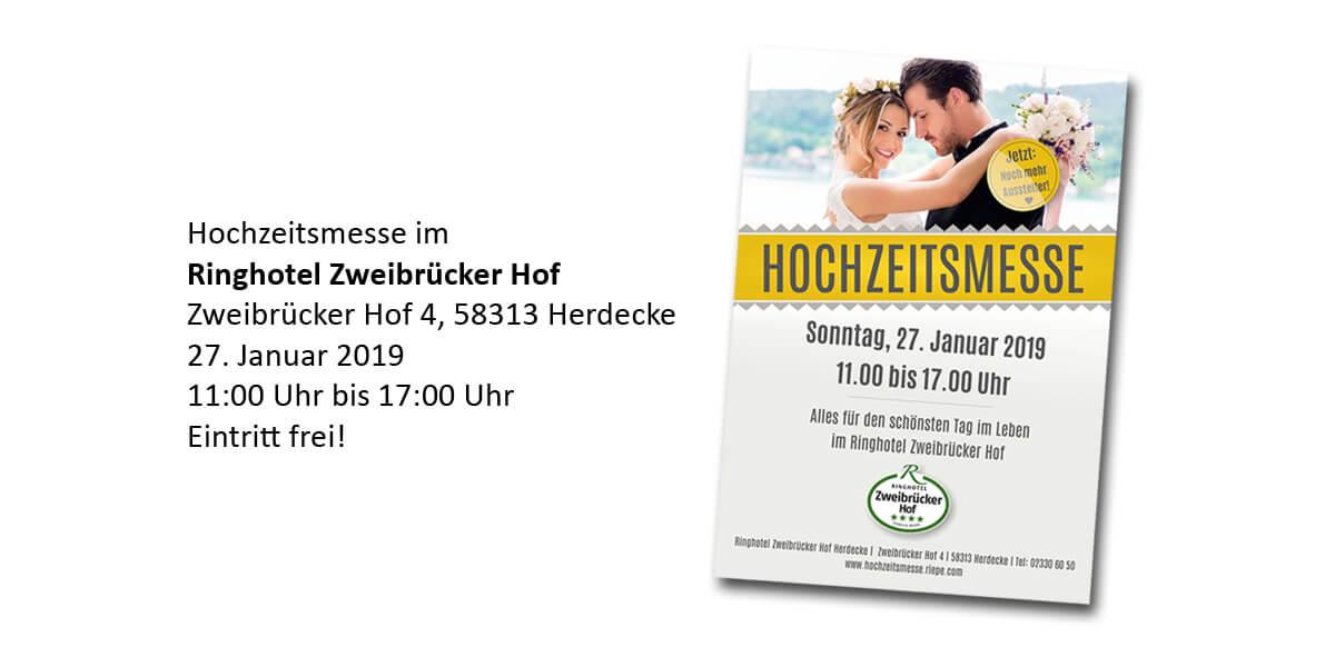 Hochzeitsmesse Zweibrücker Hof 2019 - Newsbild