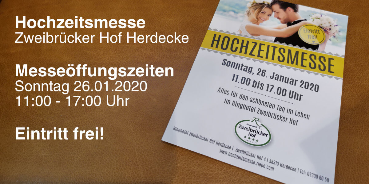 Hochzeitsmesse im Ringhotel Zweibrücker Hof 2020